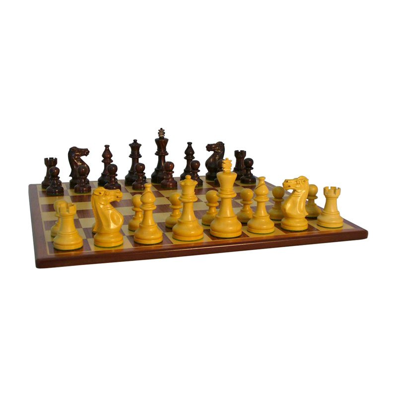 Rosewood American Emperor Chess Set on Padauk Board by World Wise Imports