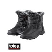 Totes Double-Zip Boots with Faux Fur Lining - Winter Apparel Essentials