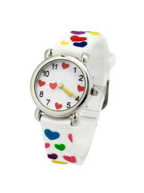 Waterproof 3D Cute Cartoon Digital Silicone Wristwatches Time Teacher Gift for Little Girls Boy Kids Children Christmas birthday gift