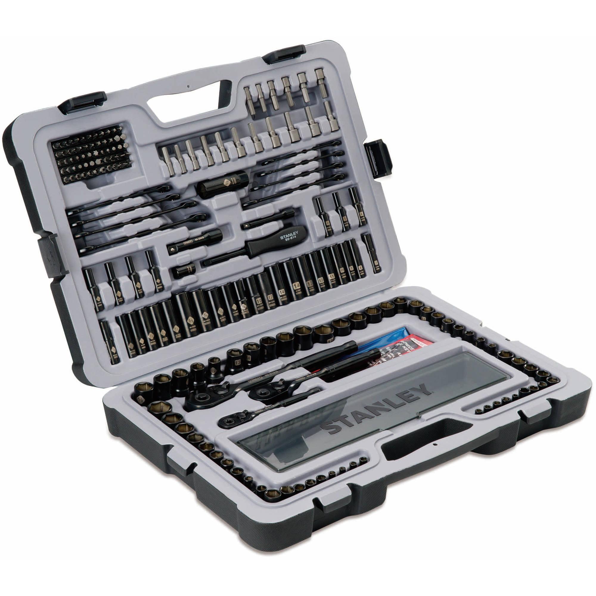 Stanley 201 Piece Black Chrome Mechanics Tool set, STMT75402 by Stanley Black & Decker