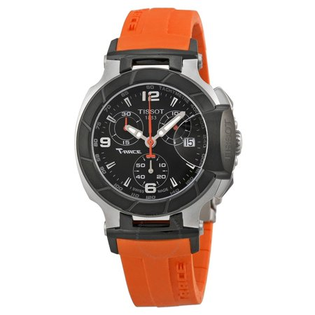 T Race Chronograph Orange Silicone Strap Ladies Watch T0482172705700