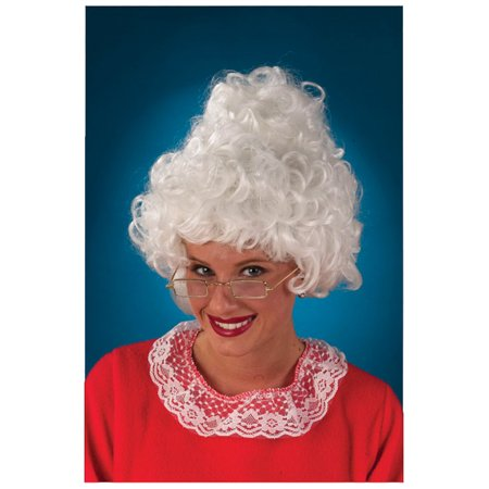 Mrs Santa Costume Wig (Waynes World Garth Wig)