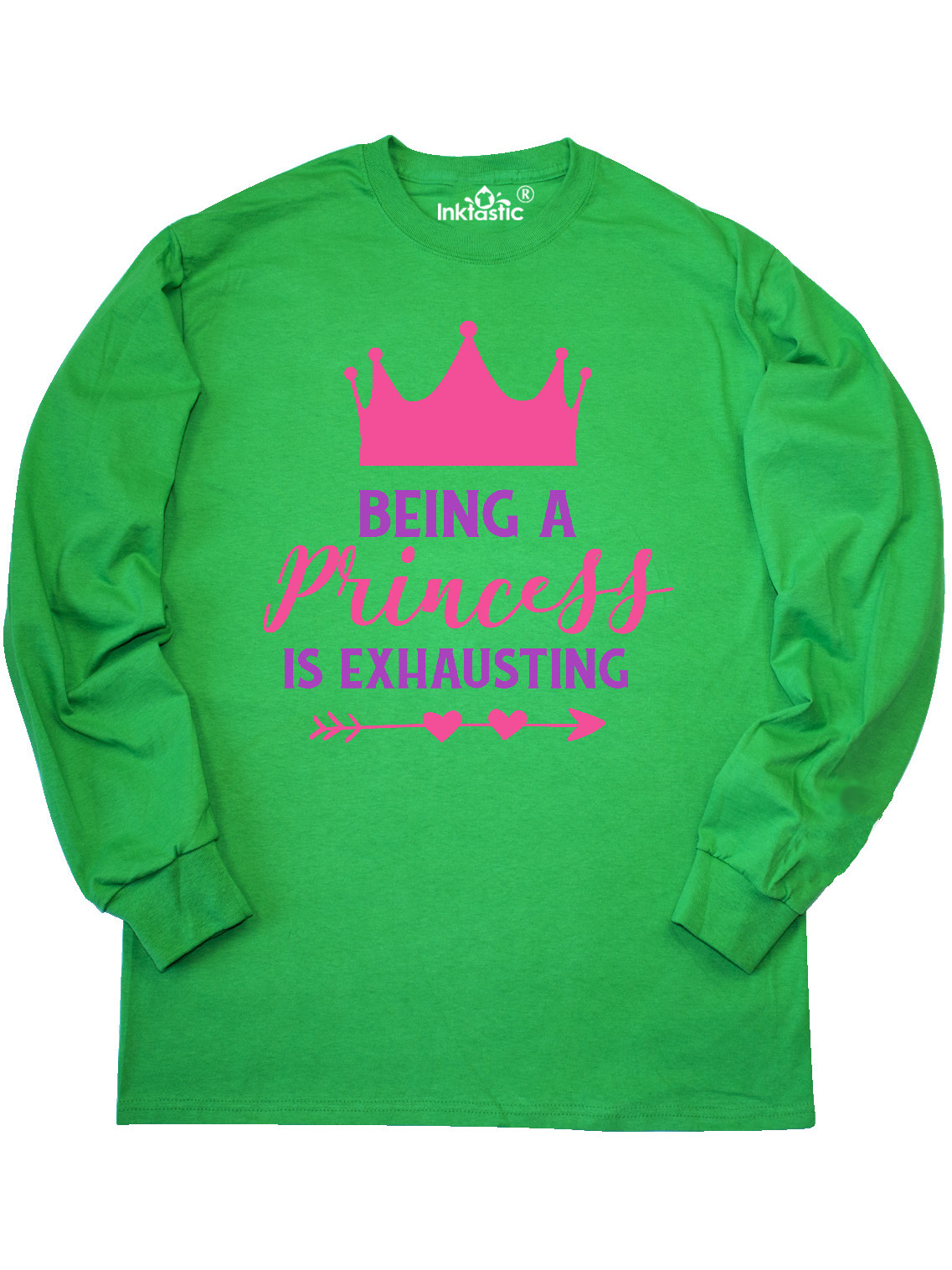 Crown inktastic Being a Princess is Exhausting Arrow T-Shirt