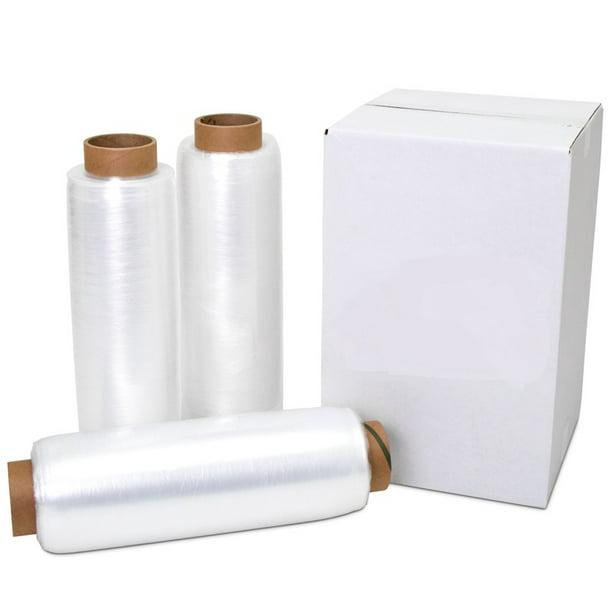 "80 Gauge Yens 4 Rolls Clear Stretch Film Plastic Pallet Wrap 18/"" Wide x 1000 Ft"