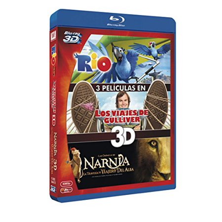 Rio 3D / Gulliver's Travels 3D / The Chronicles of Narnia: The Voyage of the Dawn Treader 3D (3D) [ Blu-Ray, Reg.A/B/C Import - Spain