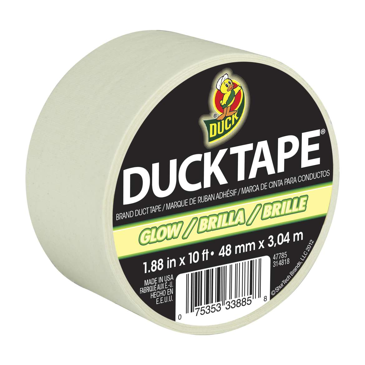 "Duck Brand Duct Tape, 1.88"" x 10 feet, Glow-in-the-Dark"