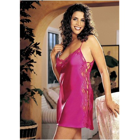 39f2a263fd3 Shirley of Hollywood DS-IA-X20015 Charmeus and dyed-to-match lace chemise  Pink   1X