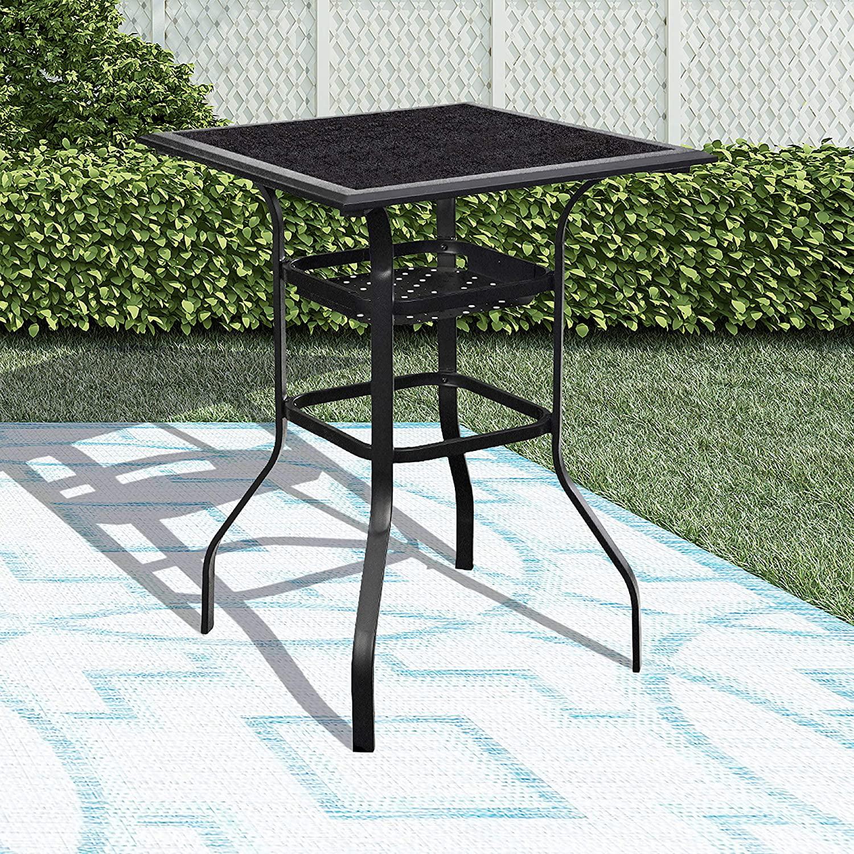 High Outdoor Patio Bar Height, Outdoor Bar Height Glass Top Table
