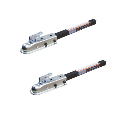 """Yutrax 2"""" Off Road Utility Trailer Pin-Style Conversion Ball Hitch Kit (2 Pack)"""