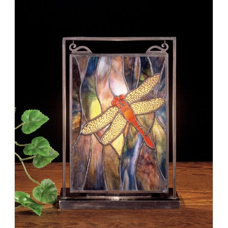 Dragonfly Lighted Mini Tabletop Window Panel ()