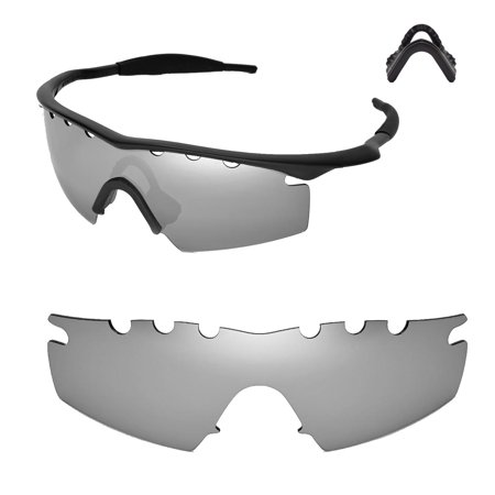 0d8a7274a9 Walleva - Walleva Titanium Polarized Vented Replacement Lenses And Black  Nosepad For Oakley M Frame Strike Sunglasses - Walmart.com