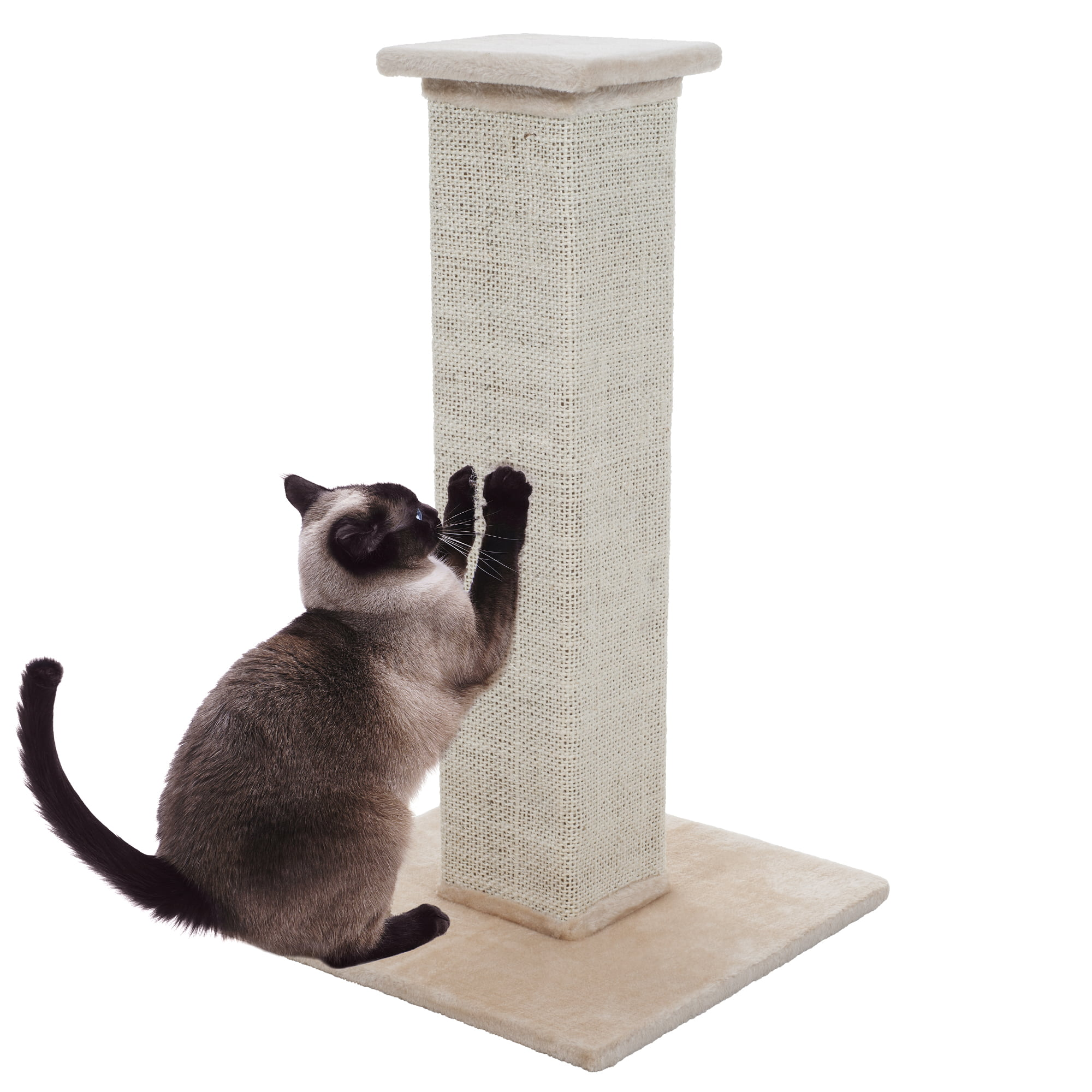 28 inch Sisal Burlap Cat Scratching Post by Trademark Global LLC