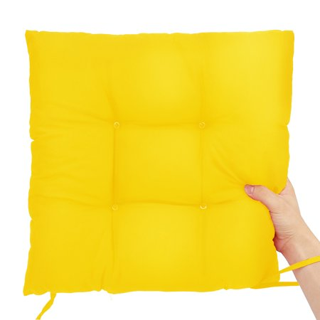 16x16inch 12-Colors Soft Square Cotton Non-Slip Chair Seat Cushion Pads Sit Tatami Mats For Indoor Sofa Floor Home Kitchen Office Patio Decor ()