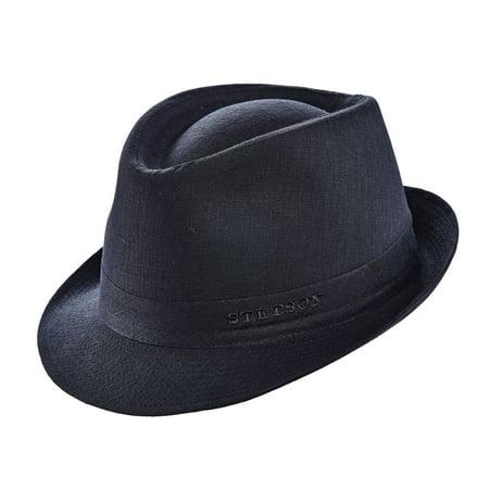 66a80f10cf8 Stetson - Stetson Men s Geneva Linen Fedora Hat Black M - Walmart.com