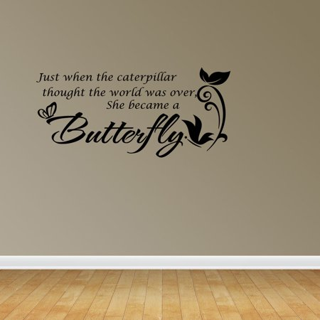 She Became A Butterfly Vinyl Wall Decals Vinyl Decals Nursery Decal Girls  Room JP7