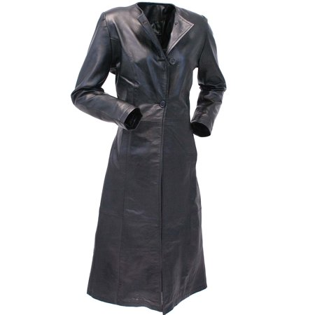 Extra Long Lambskin Leather Trench Coat for Women #L14020LL
