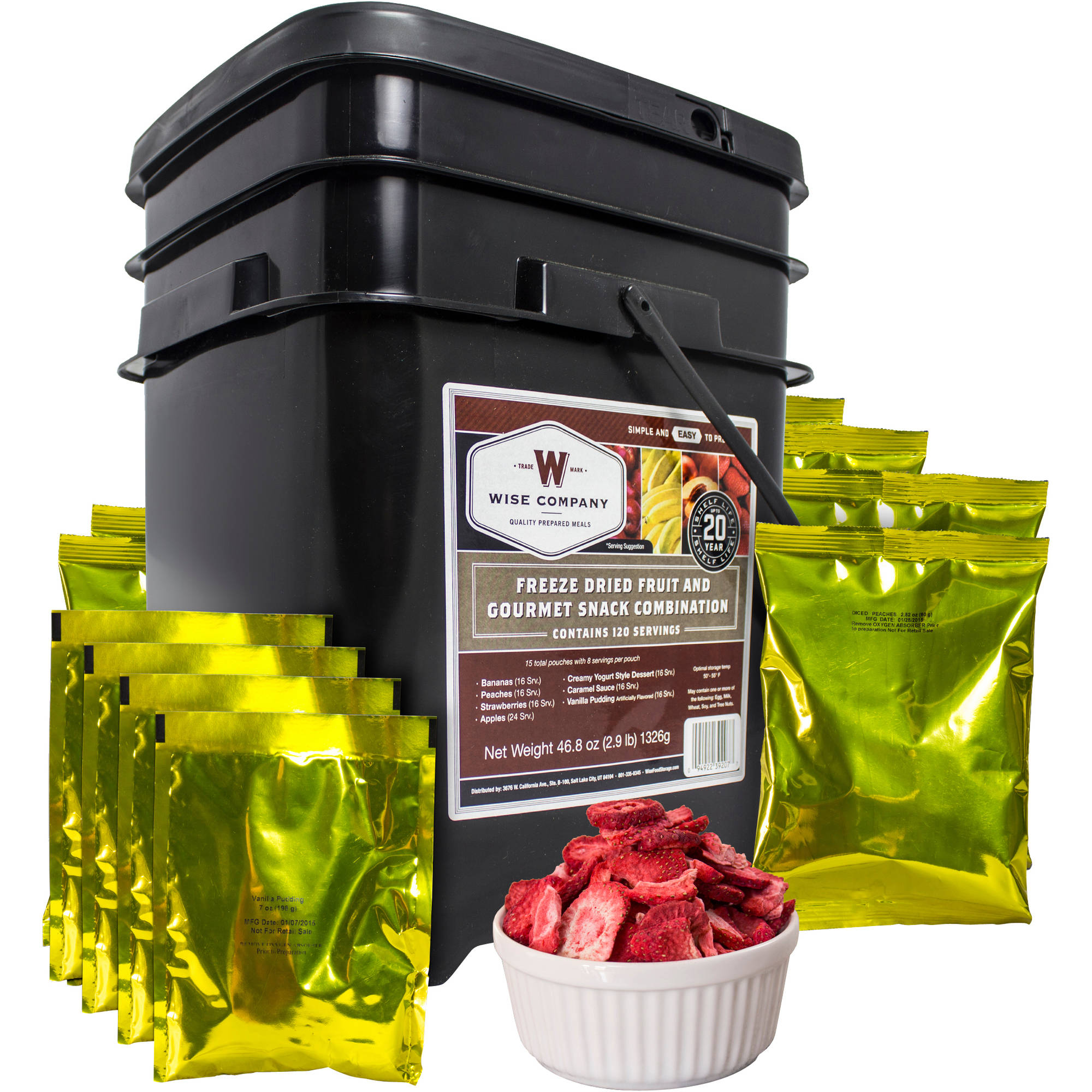Wise Company Freeze Dried Fruit and Gourmet Snack Combination Food Kit, 120 pc by Wise Company, Inc