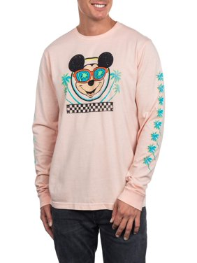 2ae643b2 Product Image Pop Culture Disney mickey mouse men's long sleeve palm tree graphic  tee, up to size