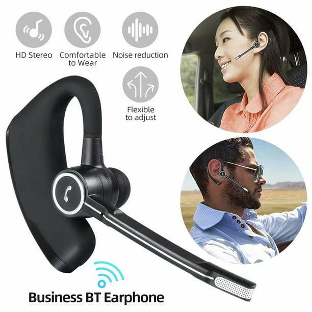 Business Bluetooth Earphone Wireless Headphone Earpiece Hands Free Earbud With Microphone For Car Truck Driver Walmart Com Walmart Com