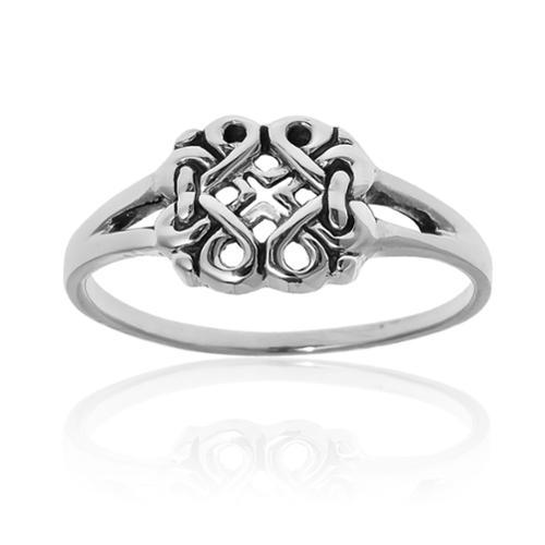 Endless Celtic Ribbons .925 Sterling Silver Everyday Ring (Thailand) Size 6