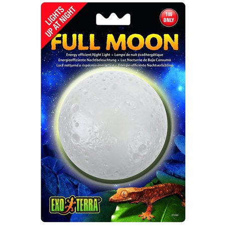 Full Moon Night Light, 1-watt, Full moon night light that simulates natural moonlight By Exo
