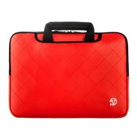 VANGODDY Gummy Padded Laptop Carry Sleeve with hide away handles for 14, 15, 15.6 inch Laptops / Notebooks
