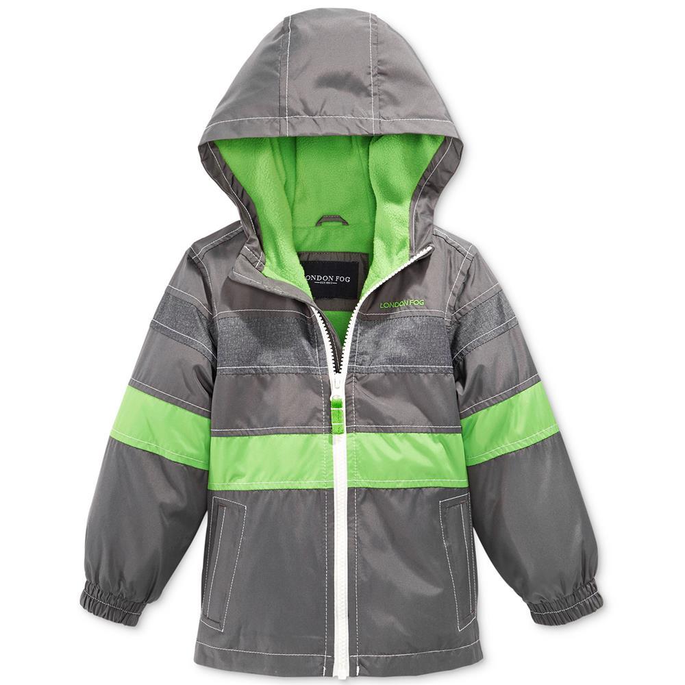 London Fog 4-7 Lightweight Colorblock Spring Jacket Grey