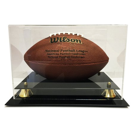 Miniature Football Display - Deluxe Acrylic Football Display Case - Clear Back