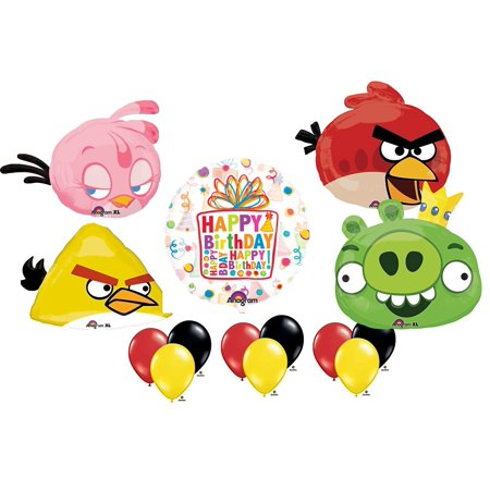 Angry Bird Party Supplies (The Ultimate Angry Birds Birthday Party Supplies and Balloon)