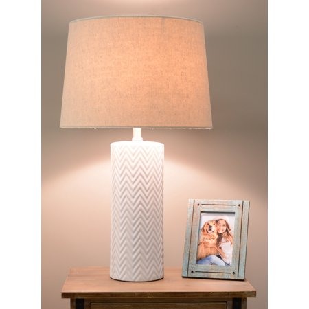 Mainstays White Ceramic Lamp Base