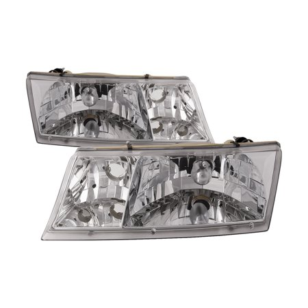 1998-2002 Mercury Grand Marquis Headlights Set Pair FO2502149 &