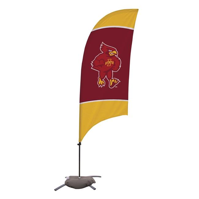 Victory Corps 810029IAS-002 7.5 ft. Iowa State Cyclones Razor Feather NCAA Flag with Cross Base - No.002 - image 1 of 1