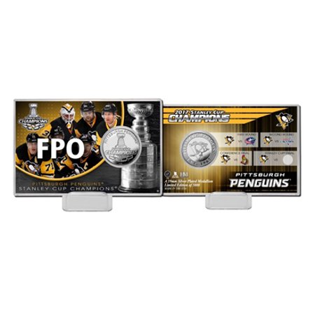 Pittsburgh Penguins 2017 Stanley Cup Champions Highland Mint Silver Coin - Highlands Halloween 2017