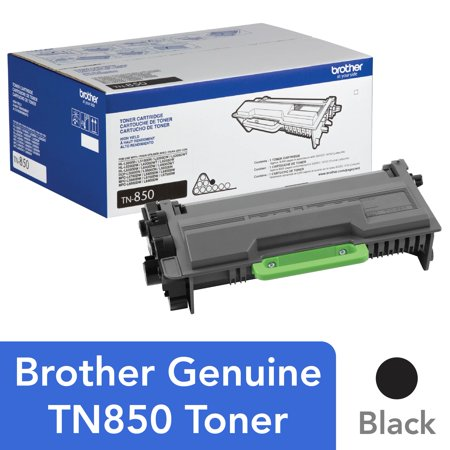 Brother Genuine High Yield Toner Cartridge, TN850, Replacement Black