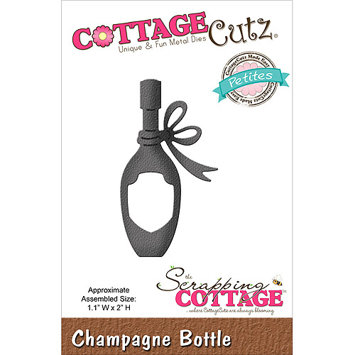 CottageCutz Petites Die, Champagne Bottle