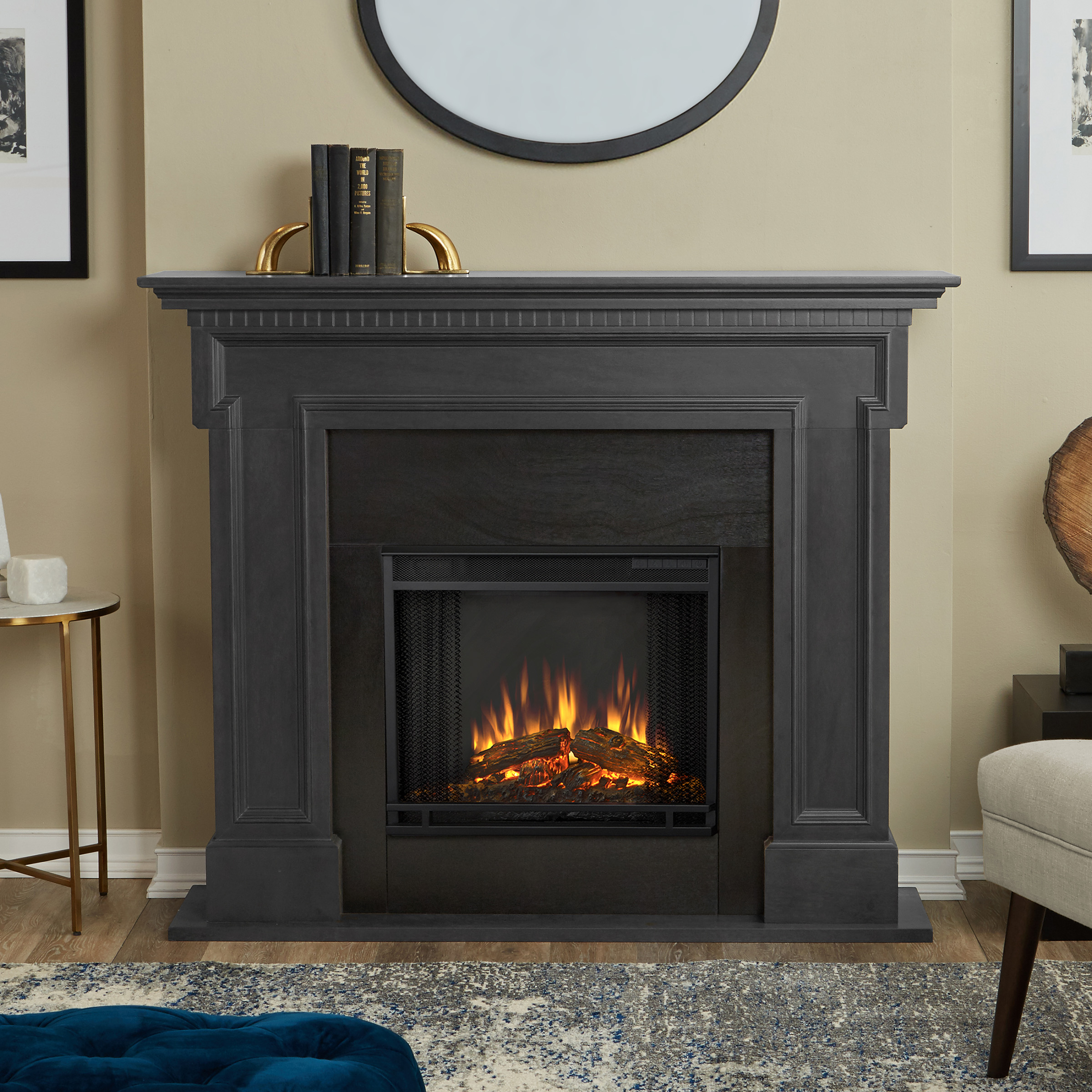 Thayer Electric Fireplace Gray by Real Flame