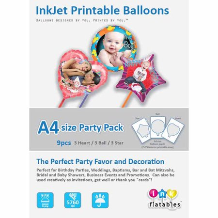 InkFlatables Balloon Home Starter Pack A4 Size 9-Pack