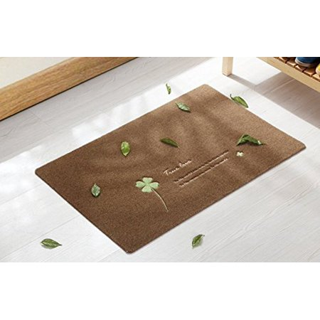 Home Cal Four Leaf Clover Machine-washable doormat, Anti-slip Backing, 15.7-inch By 23.6-inch (Four Leaf Clovers)