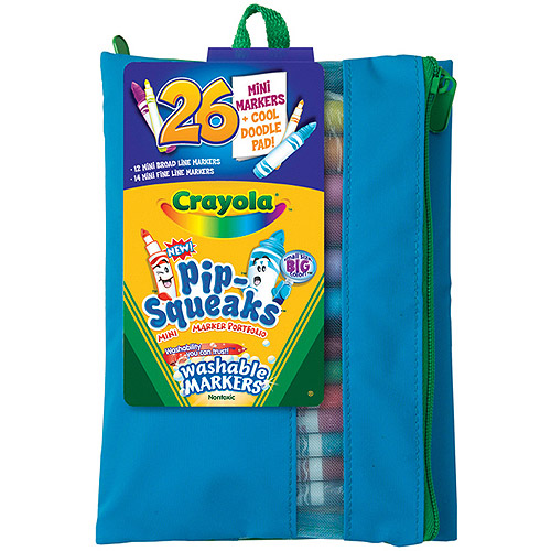 Crayola Pip-Squeaks Mini-Washable Markers, 26-Pack