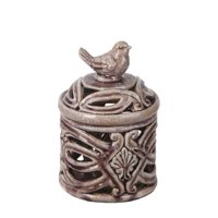 Small Bird Ceramic Lided Vase