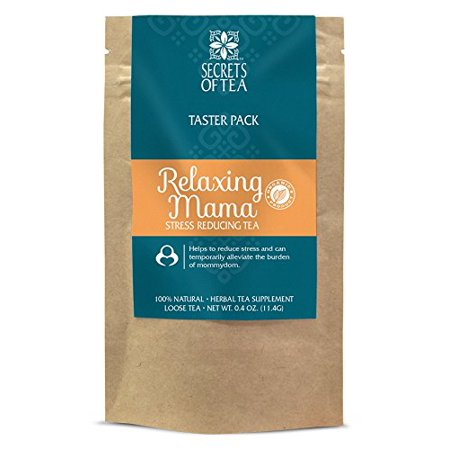 Secrets of Tea - Relaxing Mama - Certified USDA Organic Stress Reducing Herbal Tea to Restore Body Balance to Reduce Stress and Anxiety During Pregnancy (Tester)