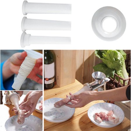4 PCS/Set Portable Meat Grinder Handmade Sausage Stuffing Tube Home Tool - Mix Grinder Set