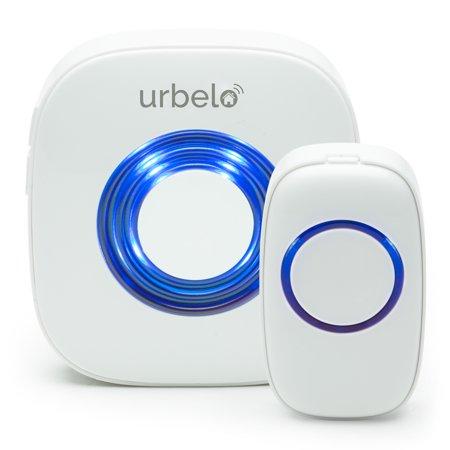 Urbelo 60-Chime Wireless Doorbell - Portable Plug-In Musical Door Bell Buzzer - Long Range Remote