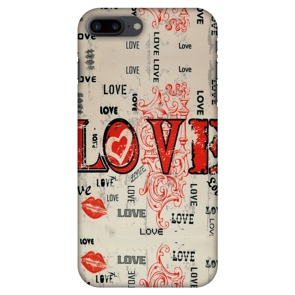 iPhone 7 Plus Designer Case, Premium Handcrafted Printed Designer Hard ShockProof Case Back Cover for iPhone 7 Plus - Enchanted Love, 5.5 Inch iPhone 7, HD Color, Soft Finish