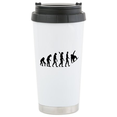 - CafePress - Evolution Snowboard Stainless Steel Travel Mug - Stainless Steel Travel Mug, Insulated 16 oz. Coffee Tumbler