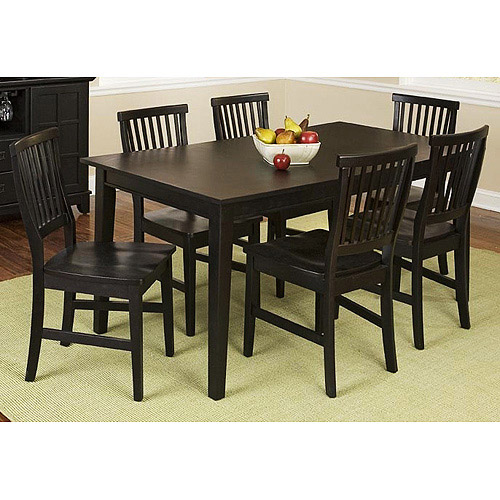 Home Styles Arts & Crafts 7 Piece Dining Set, Ebony