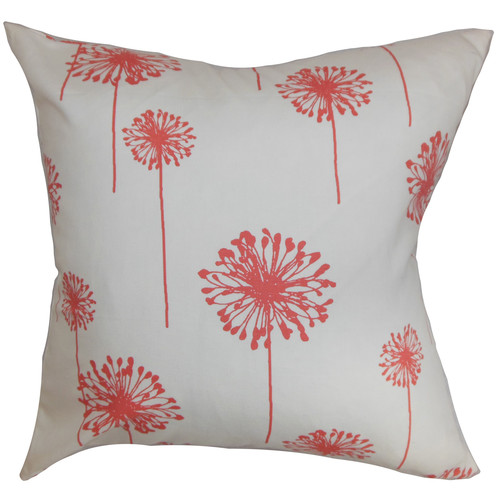 The Pillow Collection Dandelion Cotton Throw Pillow
