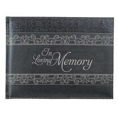 Guest Book Blank (Guest Book in Loving Memory Charcoal (Hardcover))