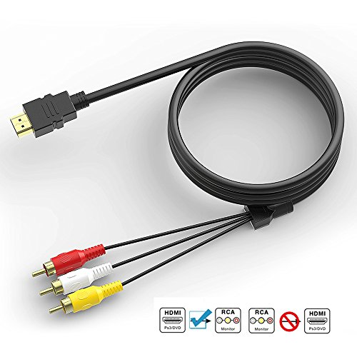 HDMI to RCA Cable, HDMI to RCA Converter Adapter Best Buy Audio Extractor Jacks Cord