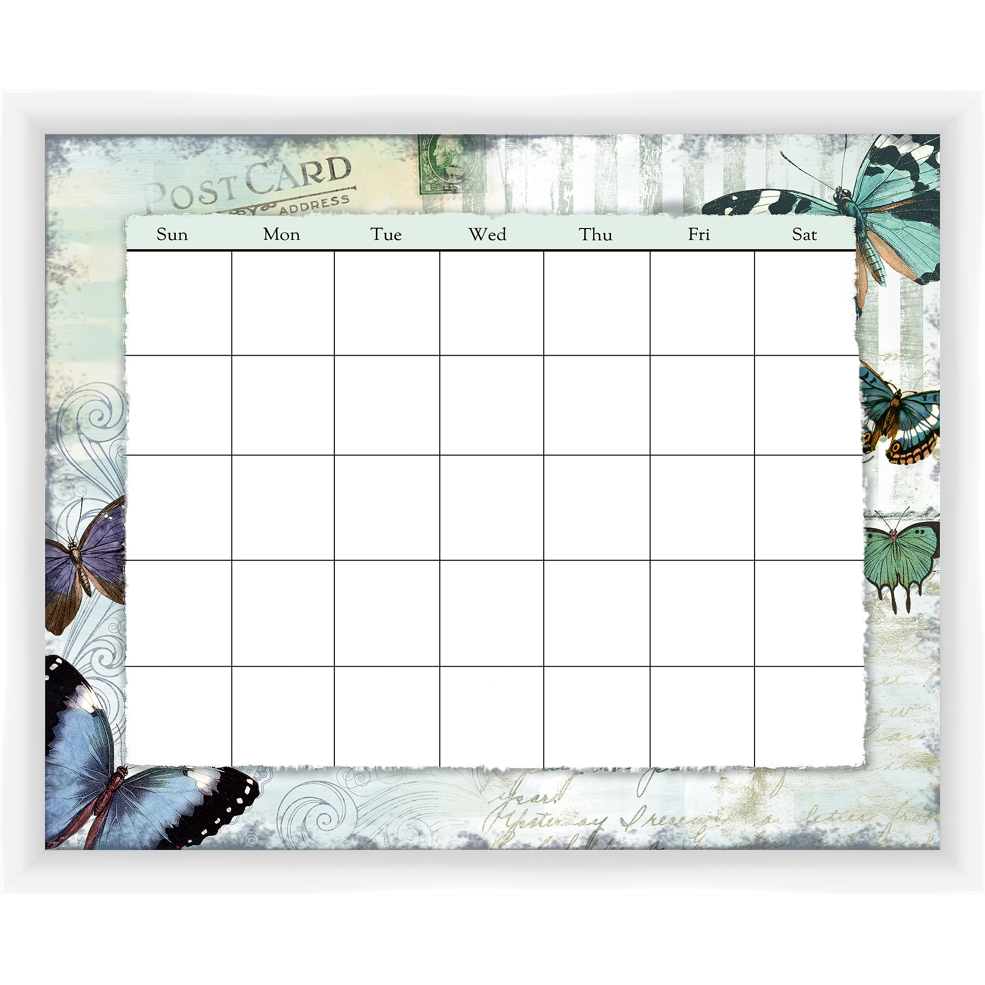 Post Card Whtie Memoboard